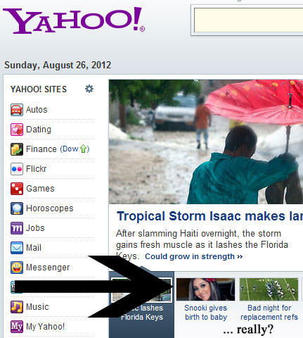 This isn't news, Yahoo! I know you're dense, but seriously.